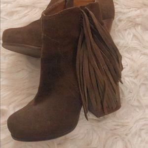 Jeffery Campbell brown tassel boots